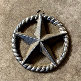 Rustic Cast Iron Star In Rope Circle