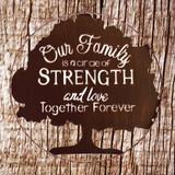 Family Love & Strength Forever Wall Art