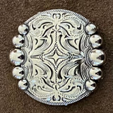 Five Berry Nickel Finish 1 Inch Concho