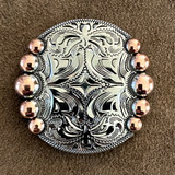 Five Berry Nickel Copped Finish 1 Inch Concho