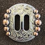 Five Berry Nickel Copped Finish 1 Inch Slotted Concho