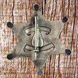Virginia City Nevada Deputy Marshall Badge - Rear View