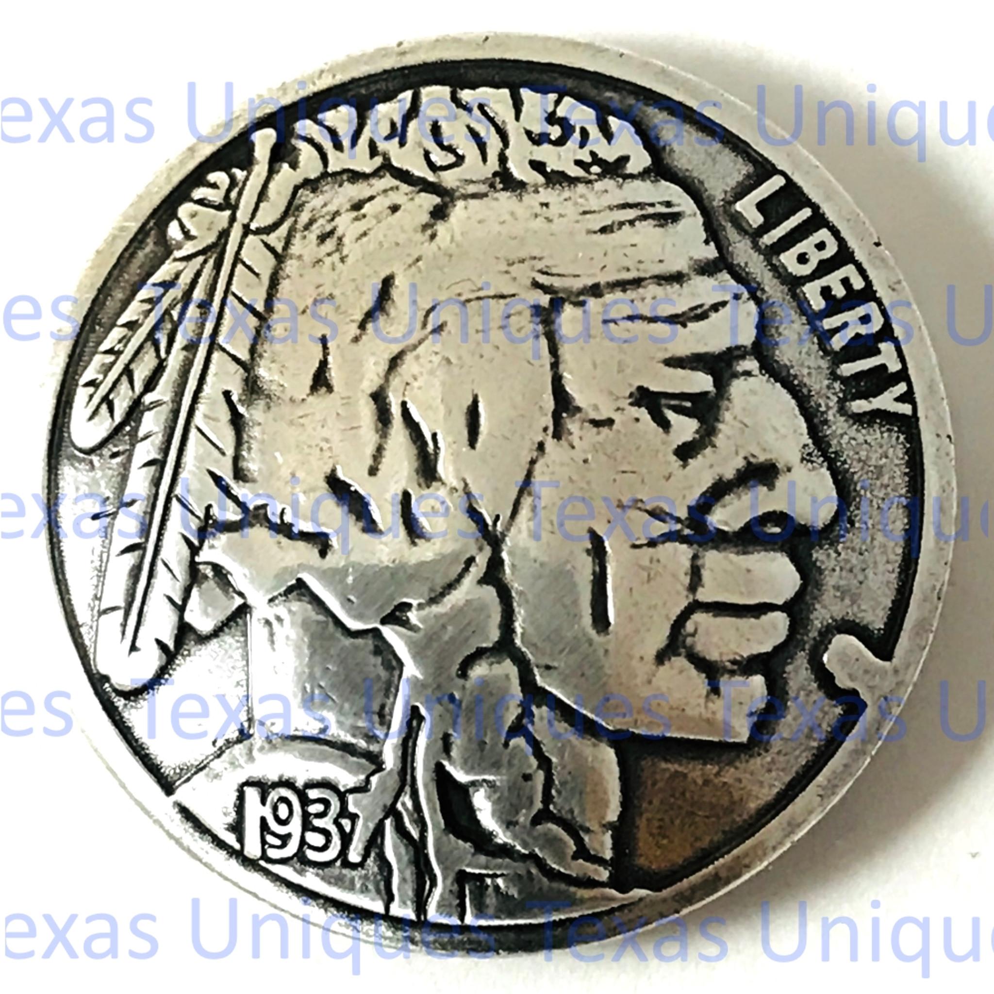 "3//4/"" Nickel Indian Head Screw Back Concho"