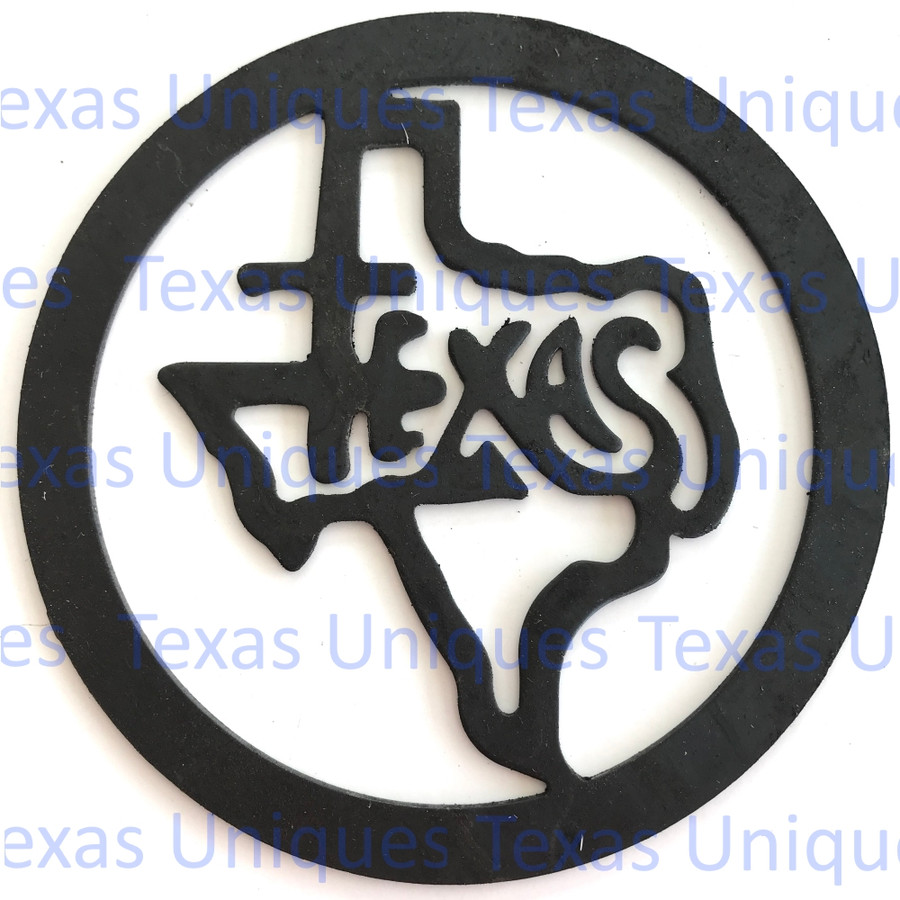 Metal Art Cut Out Of State Of Texas