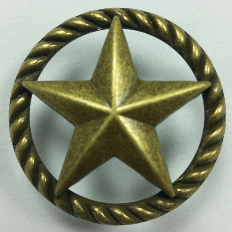 Star Cabinet Hardware Knob Drawer Pulls AB