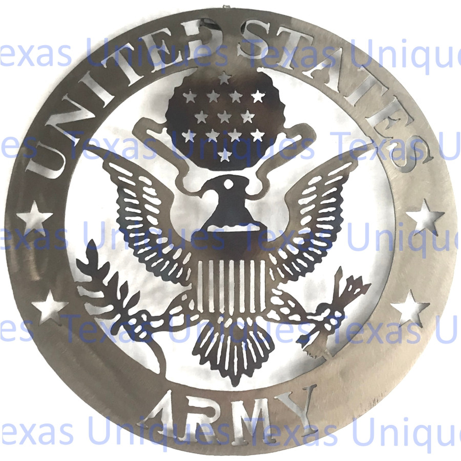 Metal Cut Out Of United States Army Wall Art