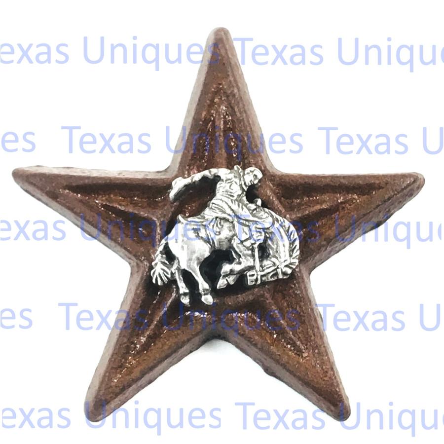 Western Decor Cowboy Saddle Bronc Star Magnet