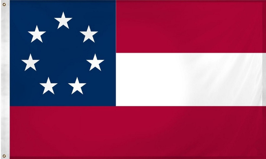 CONFEDERATE STATES OF AMERICA 1ST NATIONAL FLAG