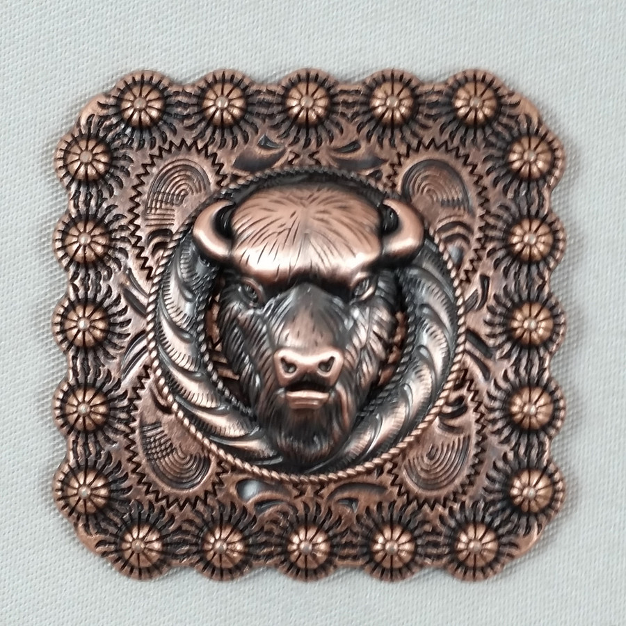 Square Berry Buffalo Belt Buckle