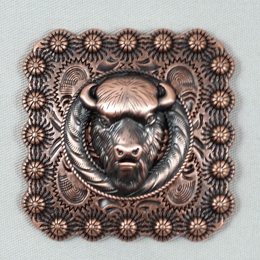 Square Berry Buffalo Belt Buckle