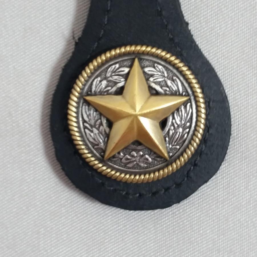 Texas Star Key Fob BLack Leather