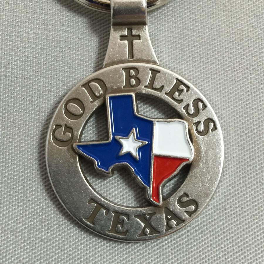 GOD BLESS TEXAS Key Fob