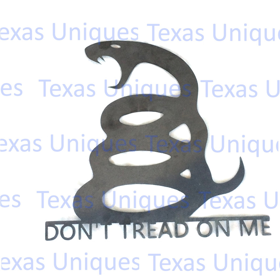 DON'T TREAD ON ME METAL CUT OUT ART