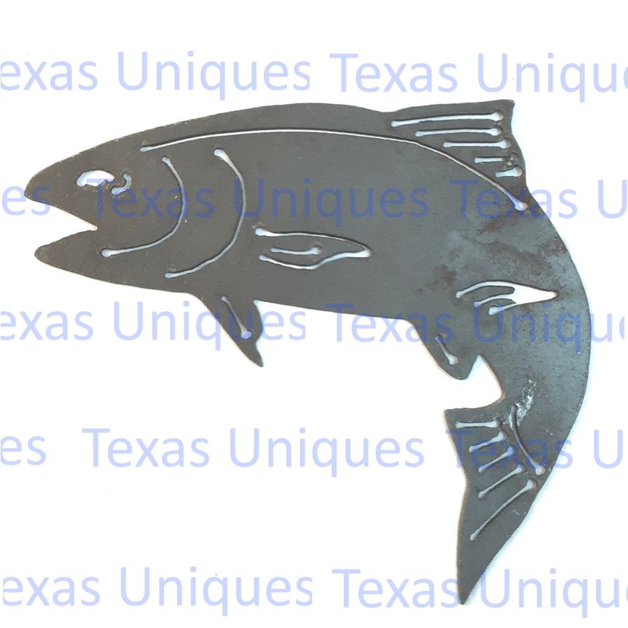 Fish Trout Metal Cutout Wall Art