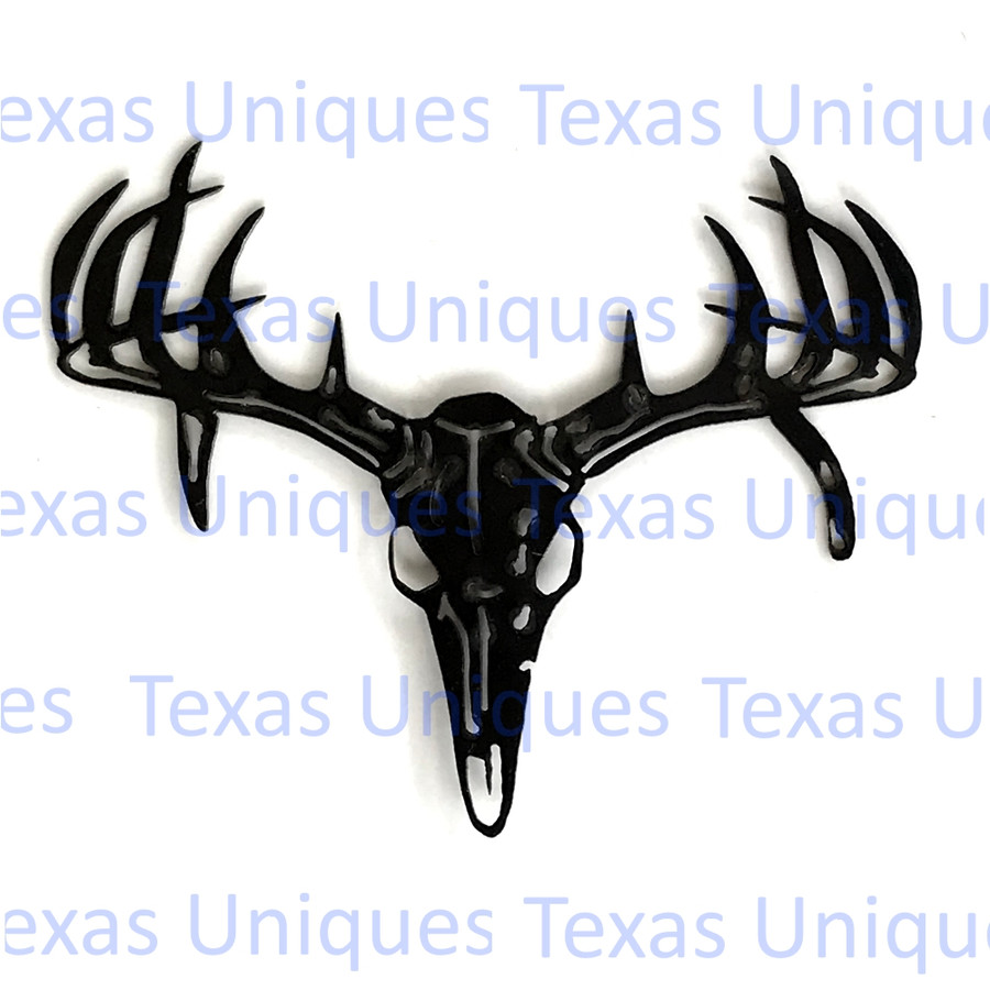 Antler Skull Metal Wall Art