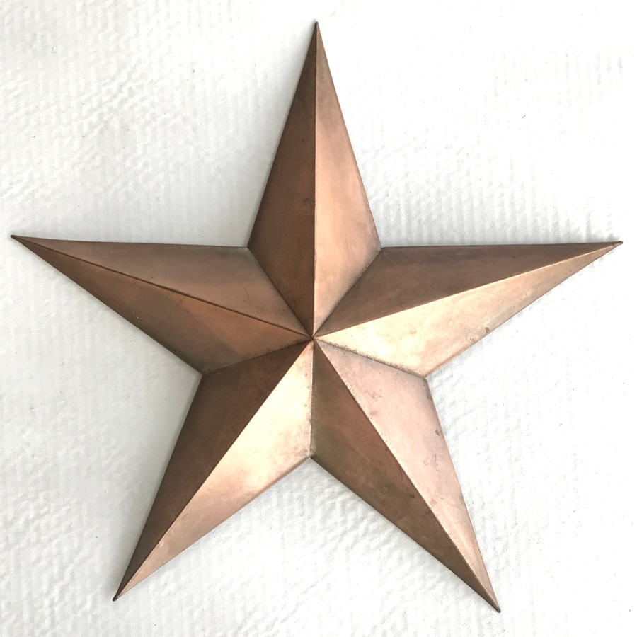 Copper Style Finish Metal Star