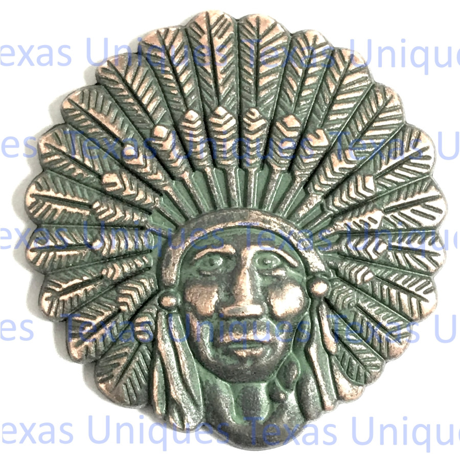 Southwest Indian Chief Antique Copper With Patina Finish