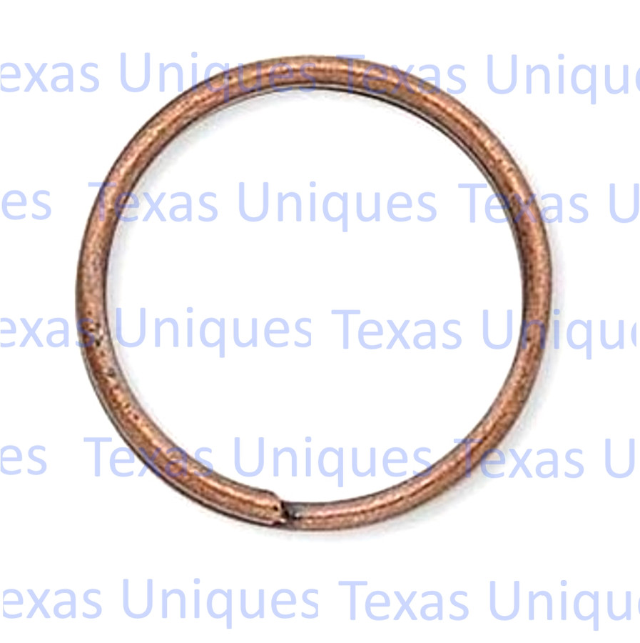 Split Key Ring Copper 1-1/4 Inch