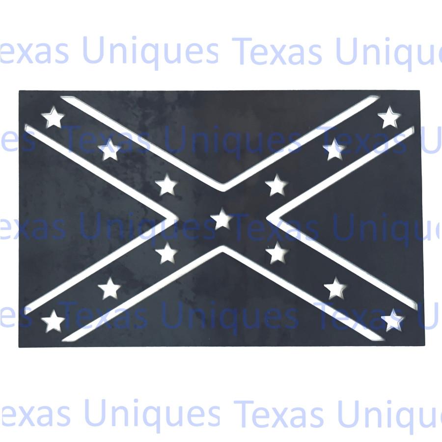 CONFEDERATE STATES OF AMERICA FLAG METAL CUTOUT