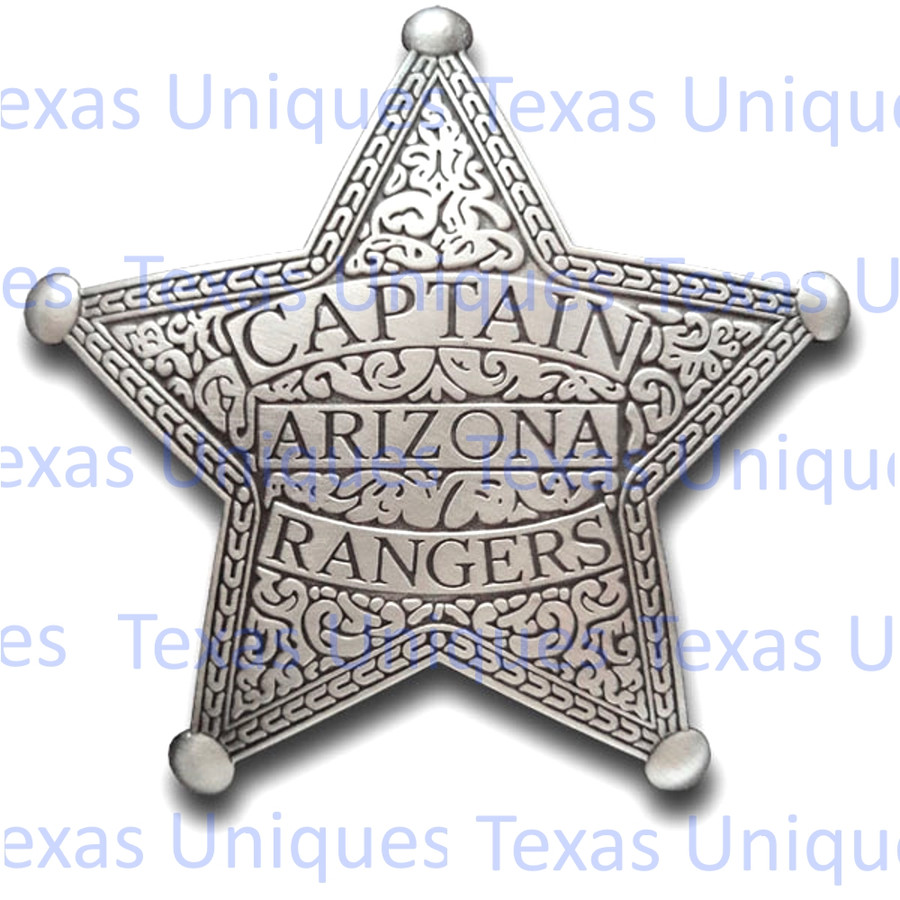 Old West Captain Arizona Ranger Reproduction Badge