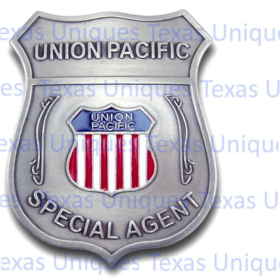 Old West Union Pacific Railroad Reproduction Badge