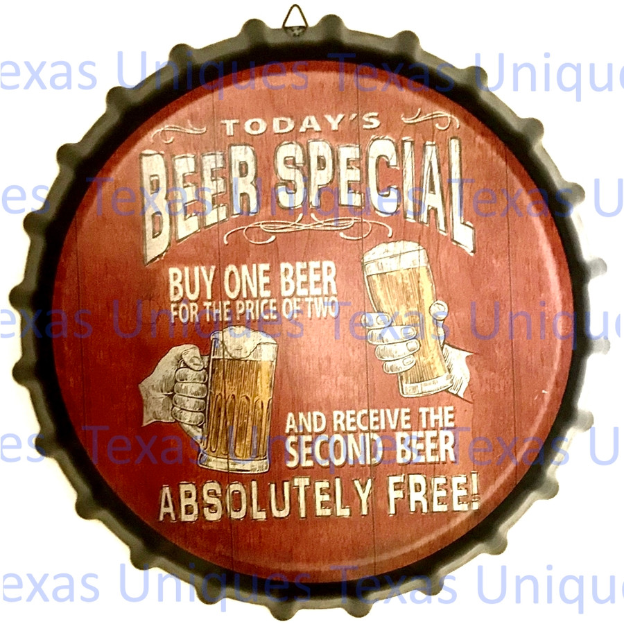 Vintage Style Decorative Metal Beer Special Wall Hanging Bottle Cap