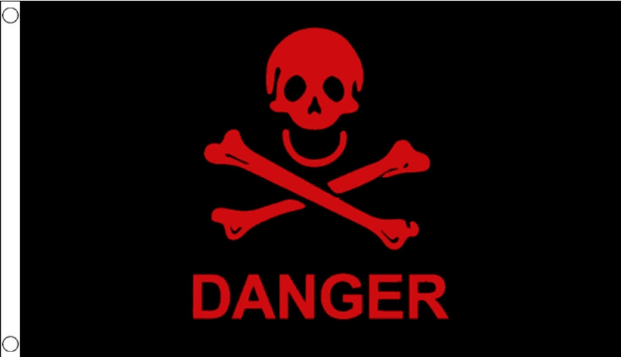 Danger (Black/Red) Flag