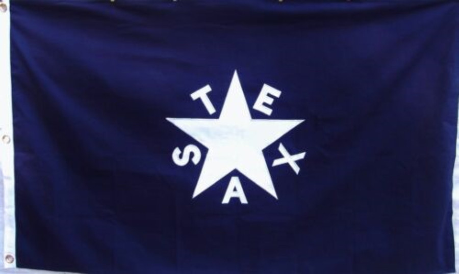Texas Lorenzo de Zavala Flag of 1836