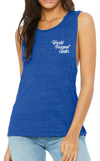 Womens Muscle Tank Top (True Royal Marble)