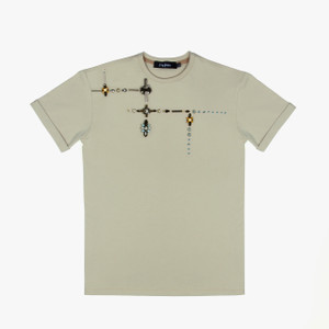 Ladies T-Shirt With Beautiful Beads