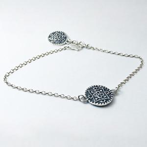 Silver Bracelet (Carpet pattern)1