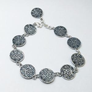 Silver Bracelet (Carpet pattern)2