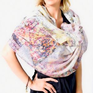 Anoush Cotton Silk Scarf