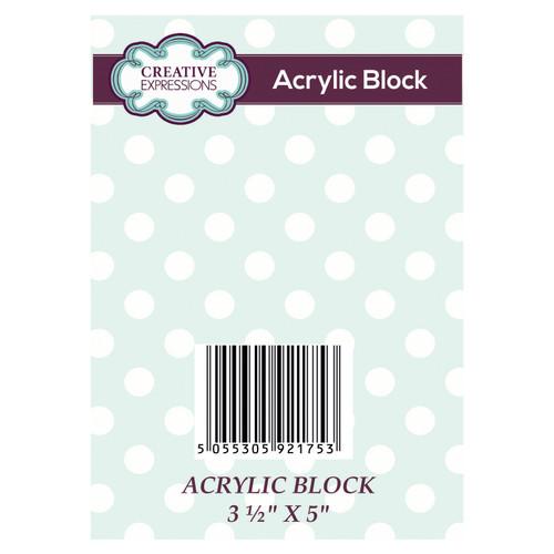 Clear Acrylic Block 3 1/2 in x 5 in