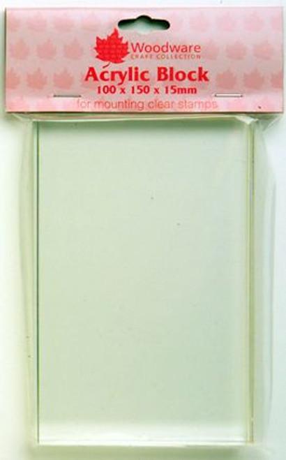Woodware Acrylic Block 76 X 100 X 15mm Medium