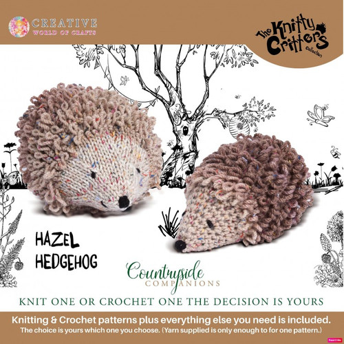 Knitty Critters-Countryside Companions-Hazel Hedgehog