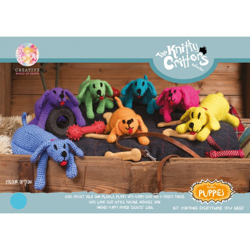 Knitty Critters-Playful Puppies