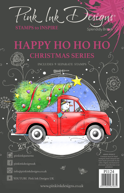 Pink Ink Designs Happy Ho Ho Ho A5 Clear Stamp