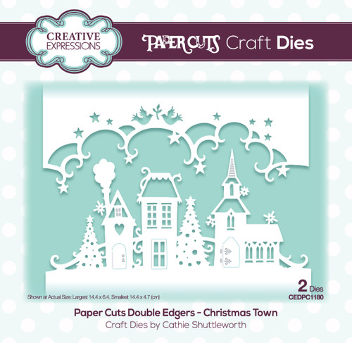 Paper Cuts Christmas Town Double Edger Craft Die
