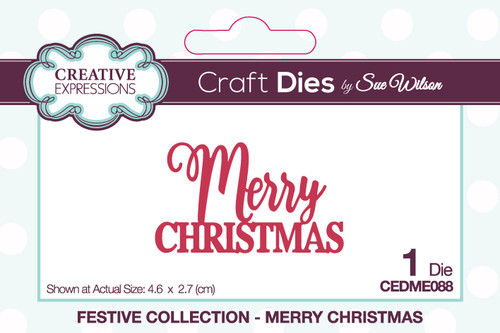 Creative Expressions Sue Wilson Mini Expressions Merry Christmas Craft Die