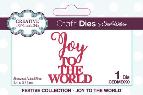 Creative Expressions Sue Wilson Mini Expressions Joy To The World Craft Die