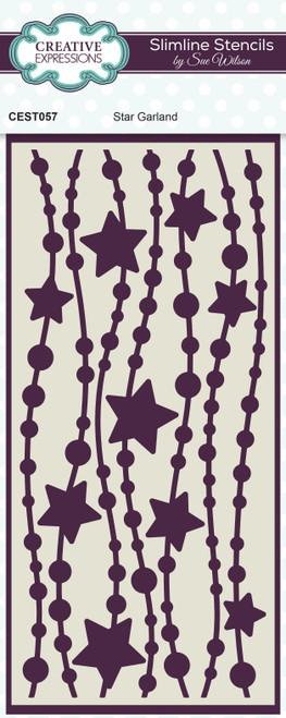 Creative Expressions Sue Wilson Star Garland Slimline Stencil