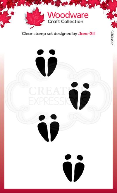 Woodware Clear Singles Festive Fuzzies – Mini Reindeer Hooves 2.6 in x 1.7 in Stamp