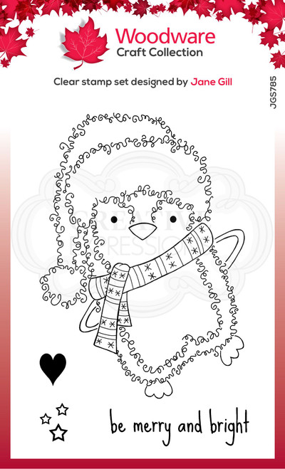 Woodware Clear Singles Festive Fuzzies – Penguin 4 in x 6 in Stamp