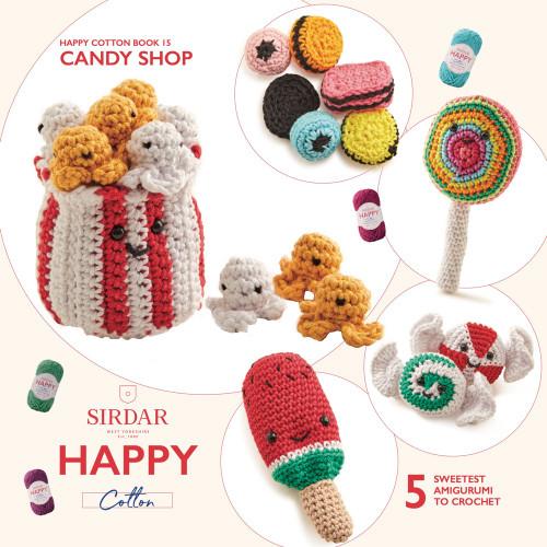 Sirdar Happy Cotton Book 15, Candy Shop