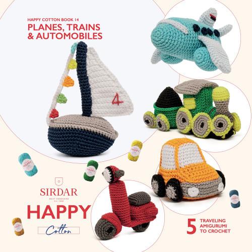 Sirdar Happy Cotton Book 14, Planes, Trains, & Automobiles