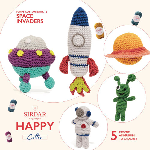 Sirdar Happy Cotton Book 12, Space Invaders