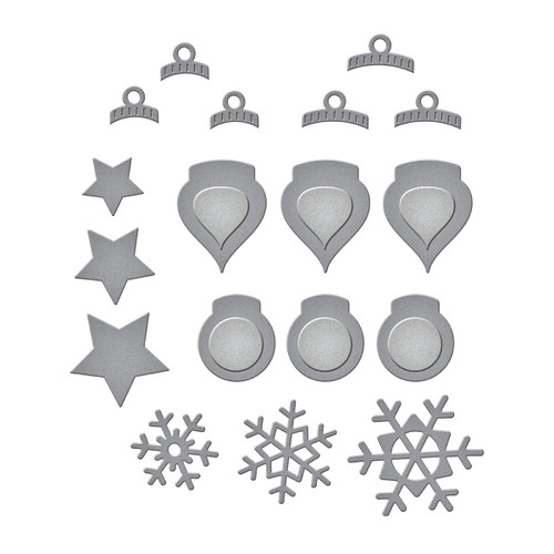 Holiday Decorations Etched Dies from the Tis the Season Collection