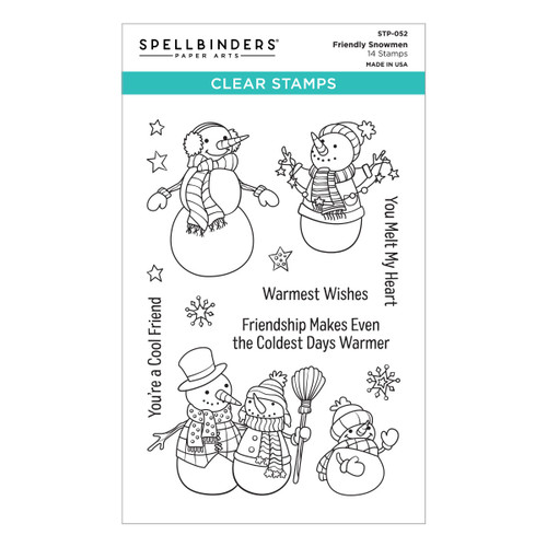 Friendly Snowmen Clear Stamp from the Be Merry Collection