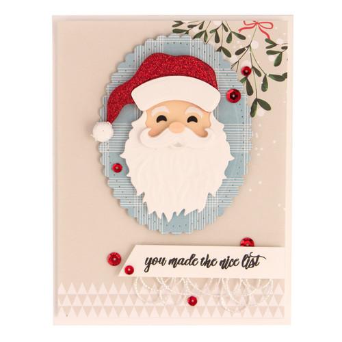 Die D-Lites Santa Etched Dies 2018 Holiday